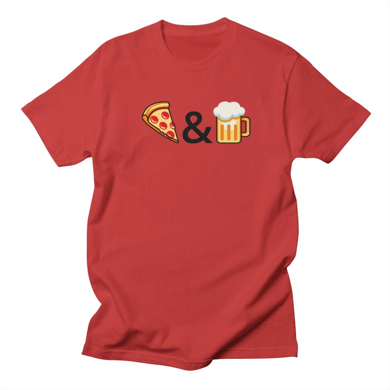 Pizza and Beer Women's Unisex T-Shirt by Santiago Sarquis's Artist Shop