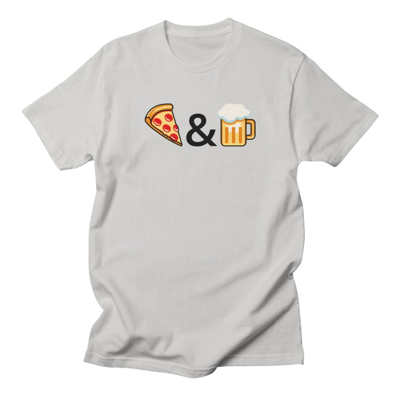 Pizza and Beer Men's T-Shirt by Santiago Sarquis's Artist Shop