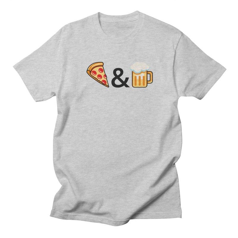 Pizza and Beer Women's Regular Unisex T-Shirt by Santiago Sarquis's Artist Shop