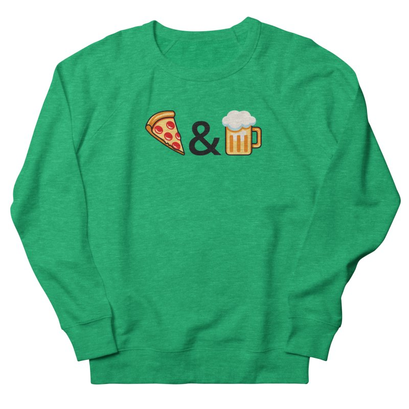Pizza and Beer Women's Sweatshirt by Santiago Sarquis's Artist Shop