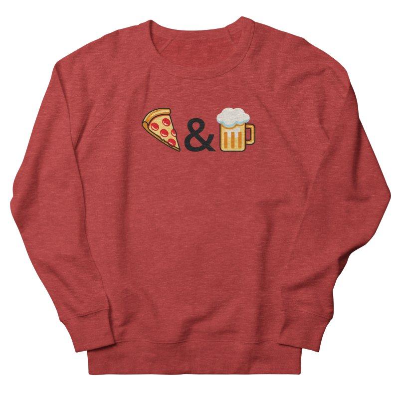 Pizza and Beer Women's Sweatshirt by Santiago Sarquis's Artist Shop