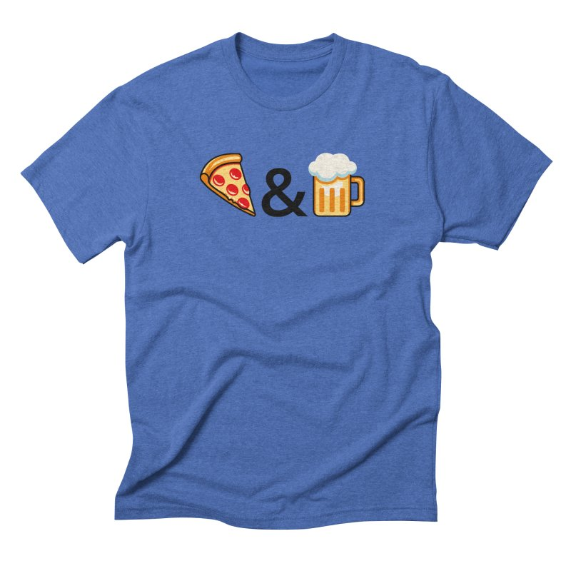Pizza and Beer Men's Triblend T-Shirt by Santiago Sarquis's Artist Shop