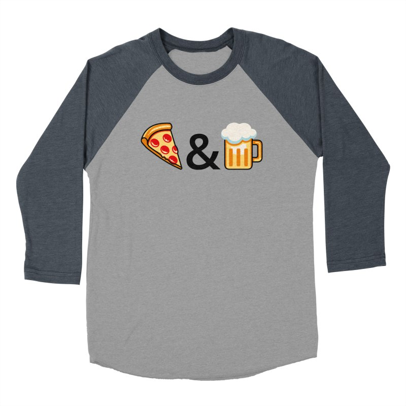 Pizza and Beer Women's Baseball Triblend Longsleeve T-Shirt by Santiago Sarquis's Artist Shop
