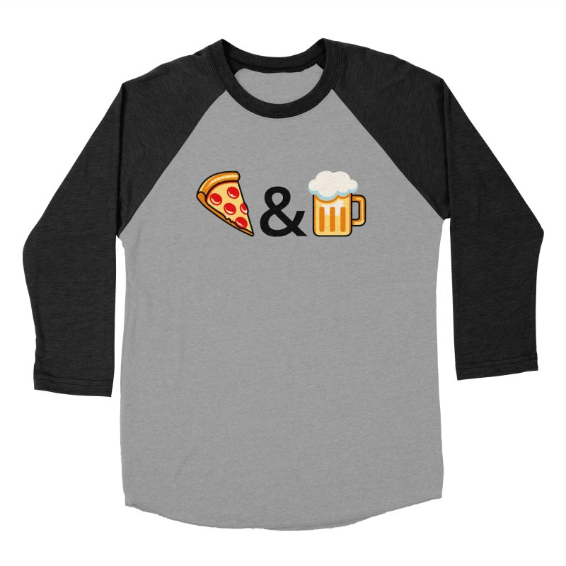 Pizza and Beer Men's Baseball Triblend T-Shirt by Santiago Sarquis's Artist Shop