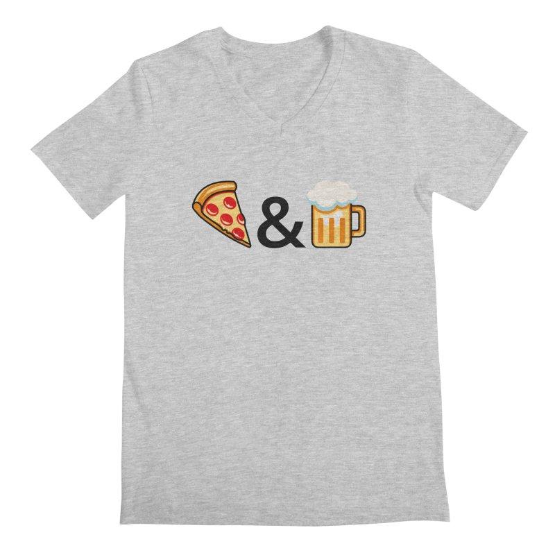 Pizza and Beer Men's V-Neck by Santiago Sarquis's Artist Shop