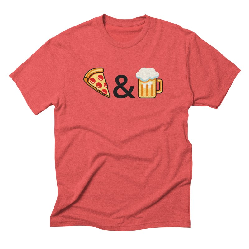 Pizza and Beer Men's Triblend T-shirt by metalsan's Artist Shop