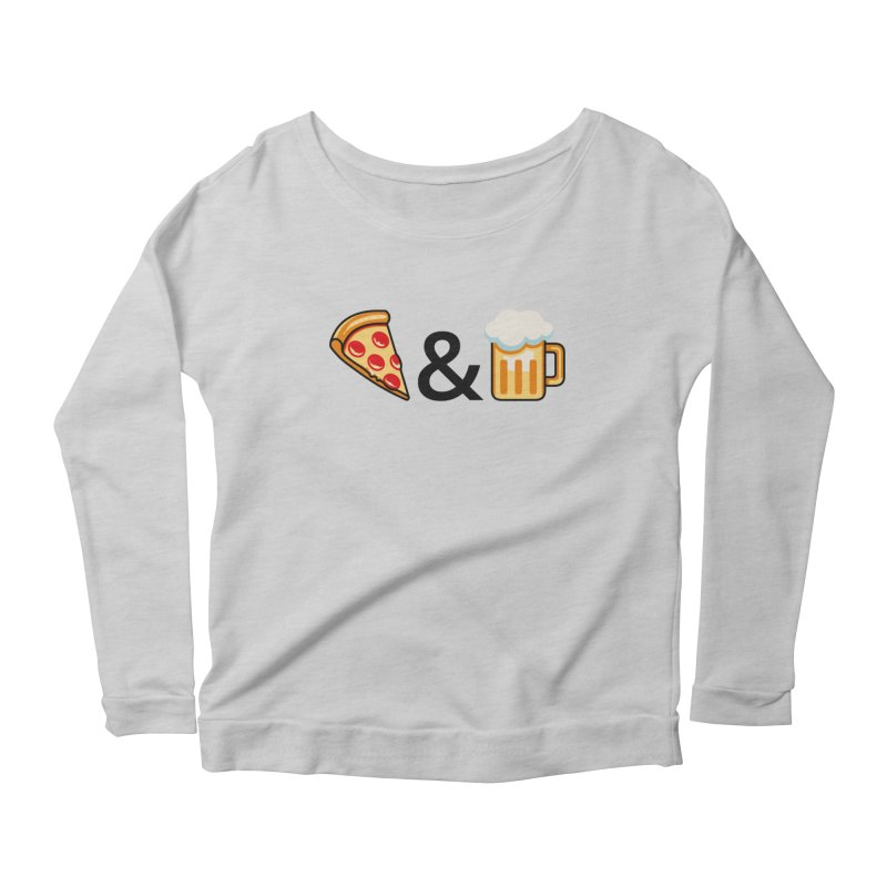 Pizza and Beer Women's Longsleeve Scoopneck  by Santiago Sarquis's Artist Shop