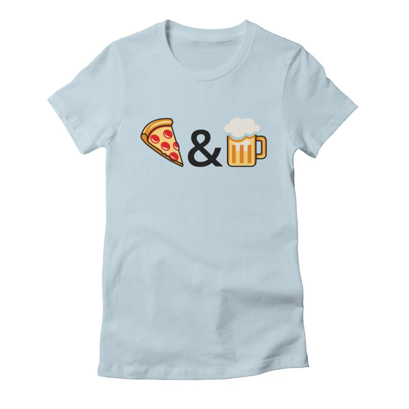 Pizza and Beer Women's T-Shirt by Santiago Sarquis's Artist Shop