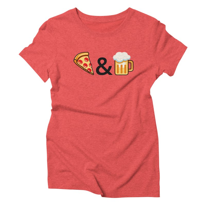 Pizza and Beer Women's Triblend T-Shirt by Santiago Sarquis's Artist Shop