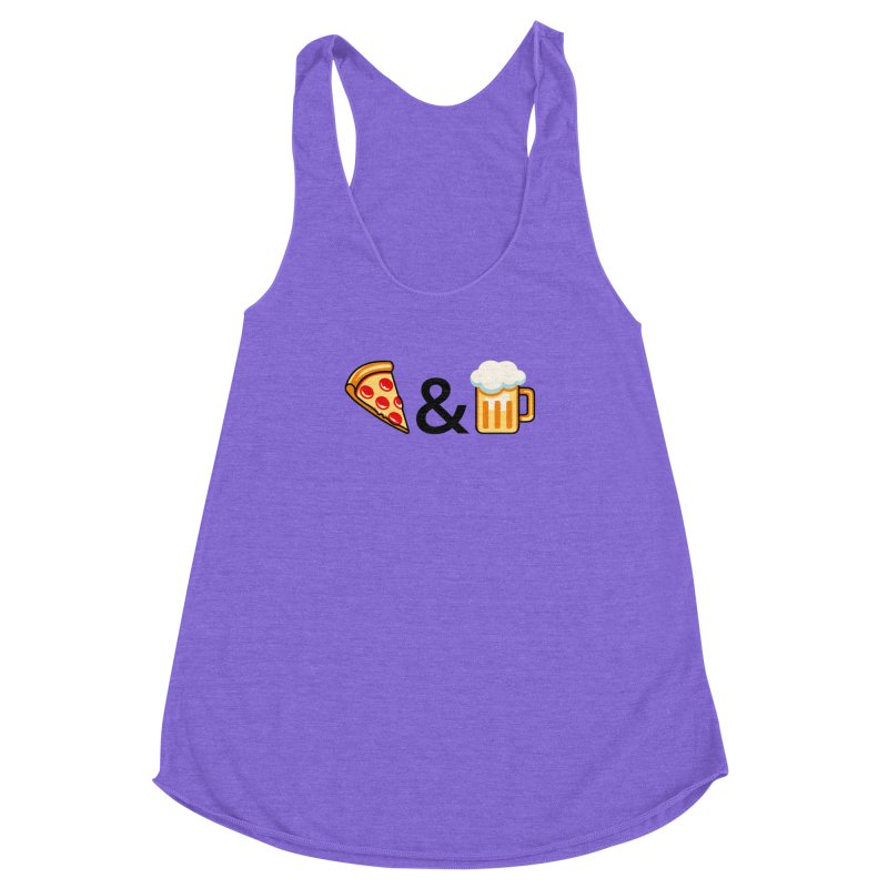 Pizza and Beer Women's Racerback Triblend Tank by Santiago Sarquis's Artist Shop