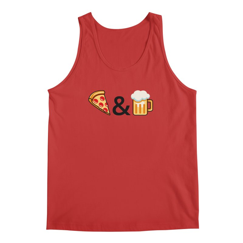 Pizza and Beer Men's Tank by Santiago Sarquis's Artist Shop