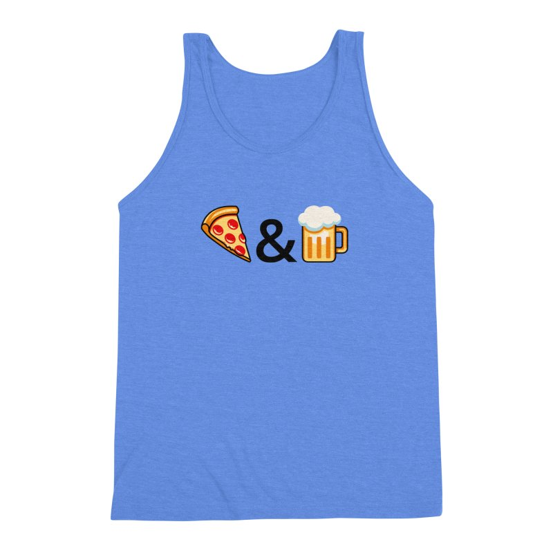 Pizza and Beer Men's Triblend Tank by metalsan's Artist Shop
