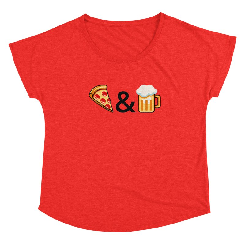 Pizza and Beer Women's Scoop Neck by Santiago Sarquis's Artist Shop