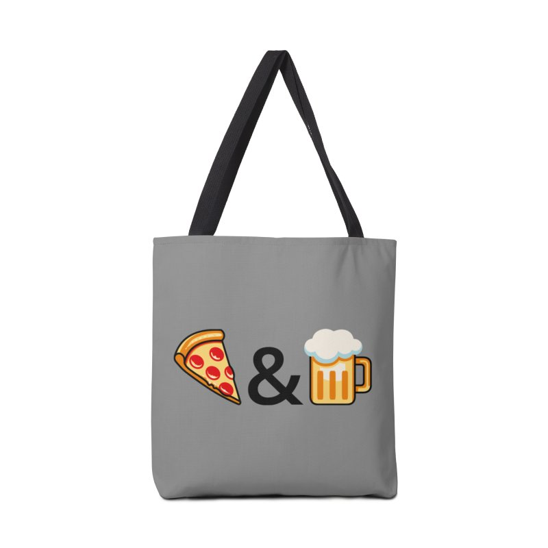 Pizza and Beer Accessories Tote Bag Bag by Santiago Sarquis's Artist Shop