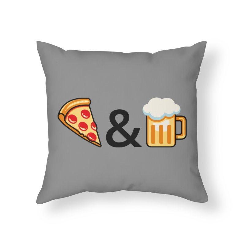 Pizza and Beer Home Throw Pillow by Santiago Sarquis's Artist Shop