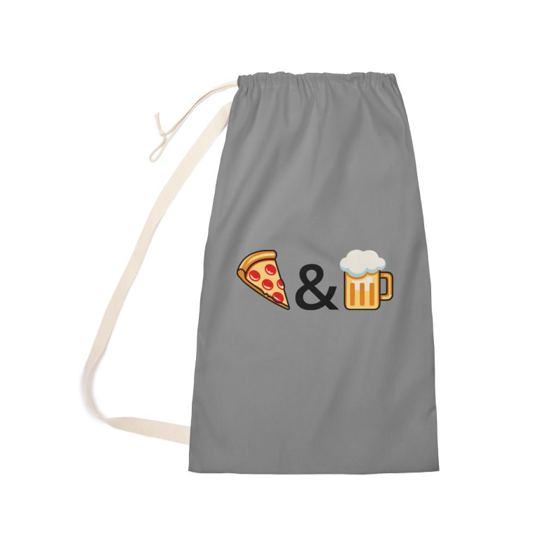 Pizza and Beer Accessories Bag by Santiago Sarquis's Artist Shop