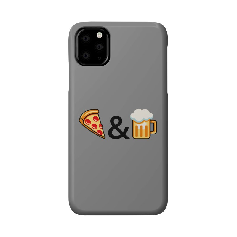 Pizza and Beer Accessories Phone Case by Santiago Sarquis's Artist Shop