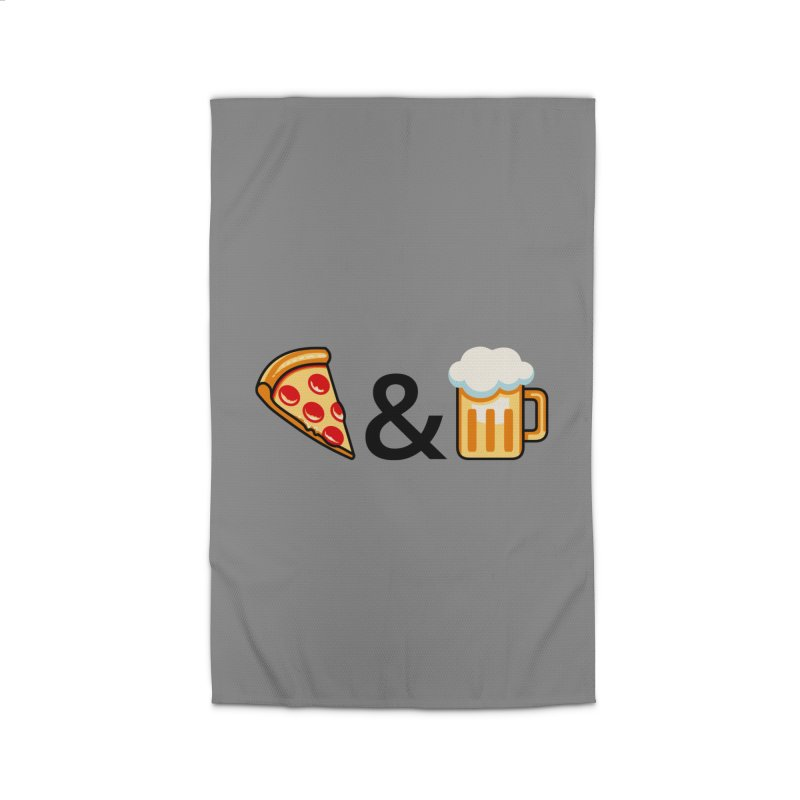 Pizza and Beer Home Rug by Santiago Sarquis's Artist Shop