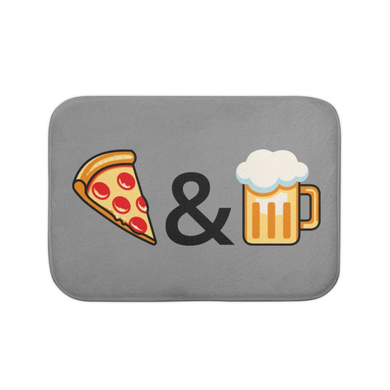 Pizza and Beer Home Bath Mat by Santiago Sarquis's Artist Shop