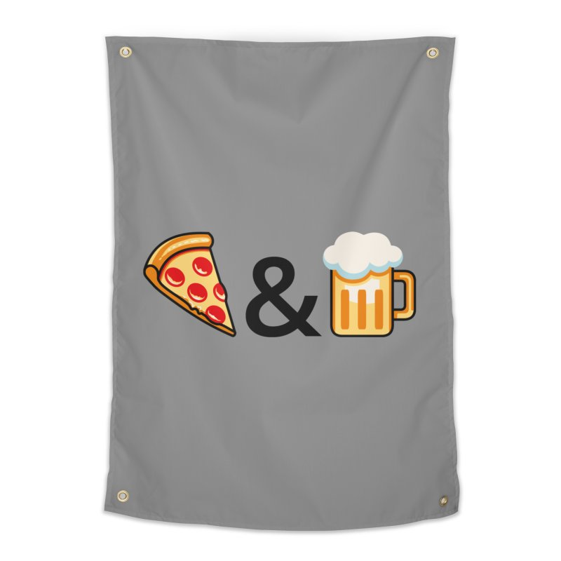 Pizza and Beer Home Tapestry by Santiago Sarquis's Artist Shop