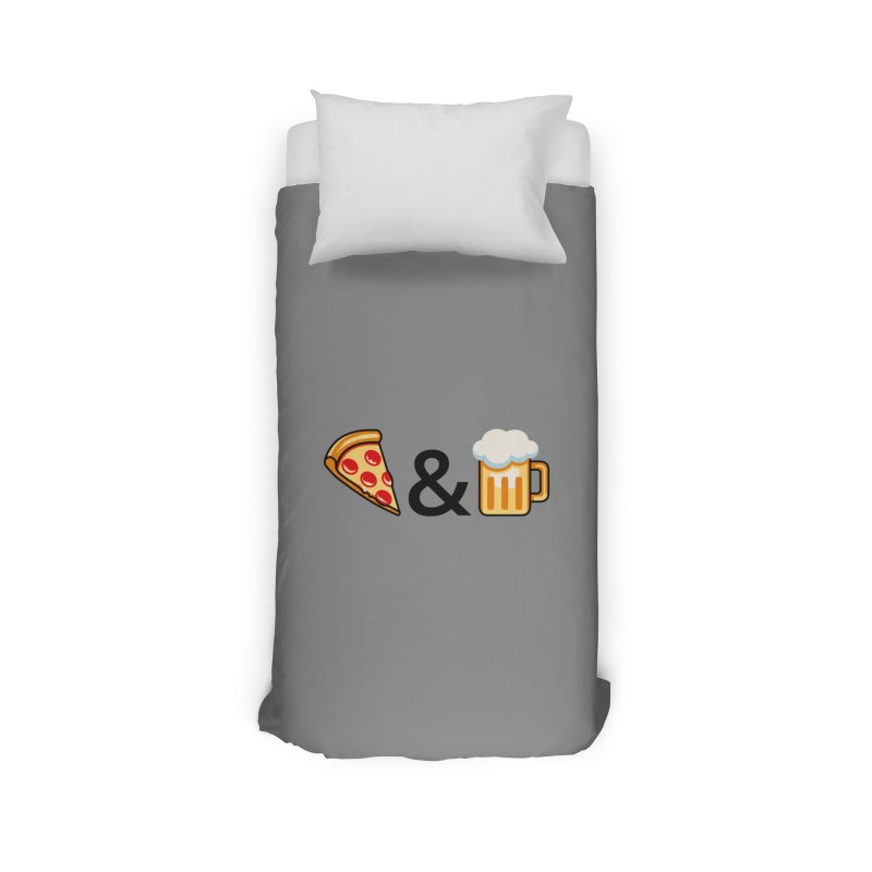 Pizza and Beer Home Duvet by Santiago Sarquis's Artist Shop