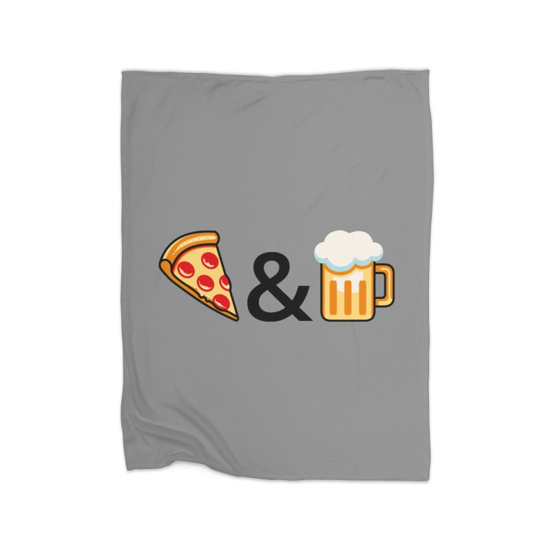 Pizza and Beer Home Blanket by metalsan's Artist Shop