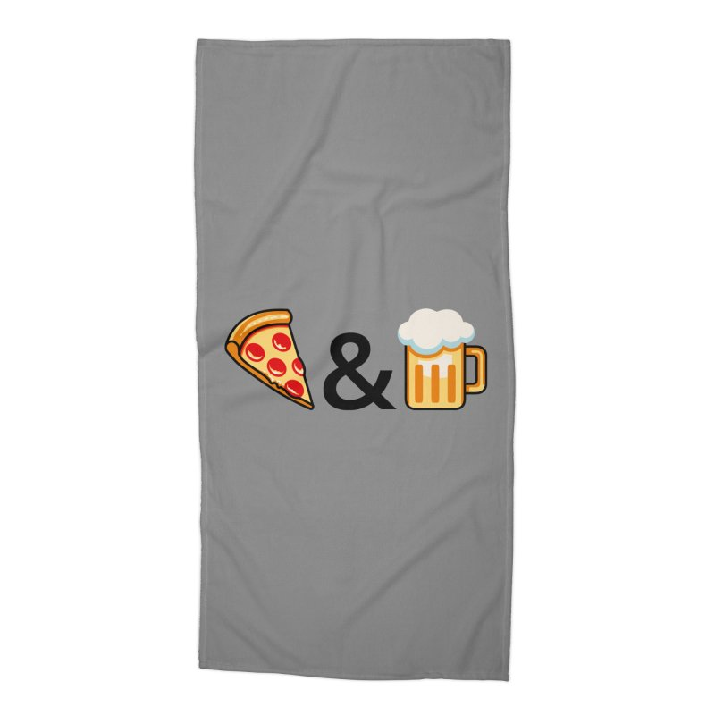 Pizza and Beer Accessories Beach Towel by metalsan's Artist Shop