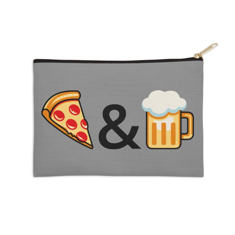 Pizza and Beer Accessories Zip Pouch by Santiago Sarquis's Artist Shop