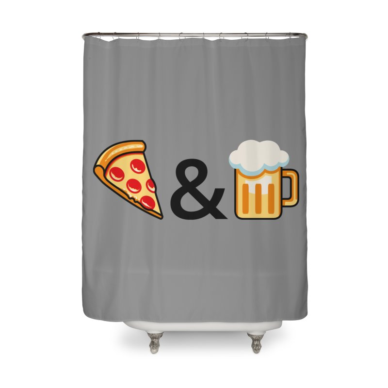 Pizza and Beer Home Shower Curtain by metalsan's Artist Shop