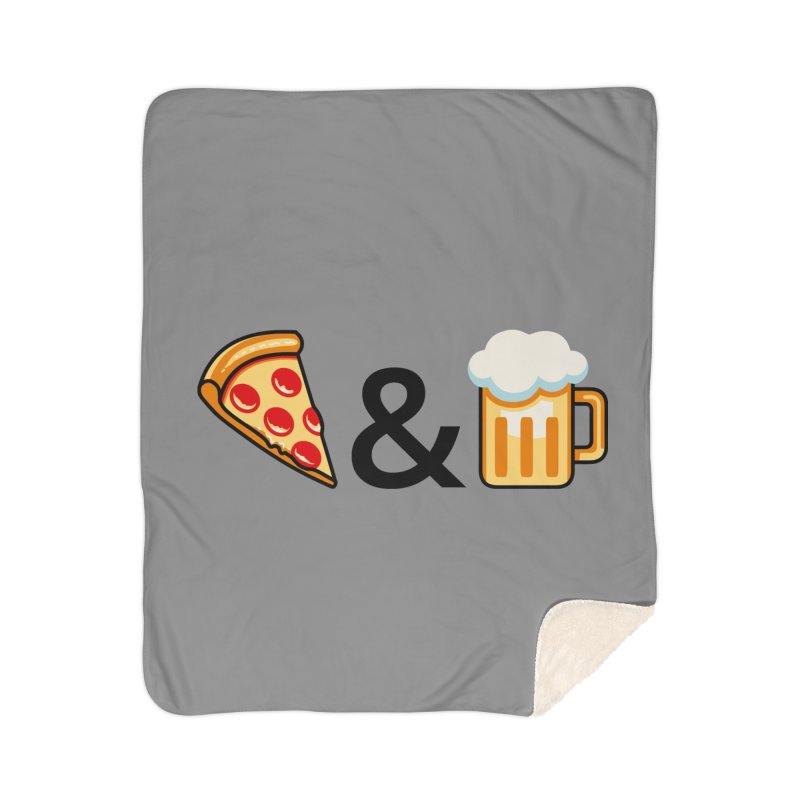 Pizza and Beer Home Blanket by Santiago Sarquis's Artist Shop