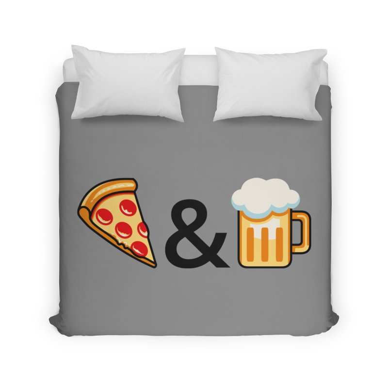 Pizza and Beer Home Duvet by metalsan's Artist Shop