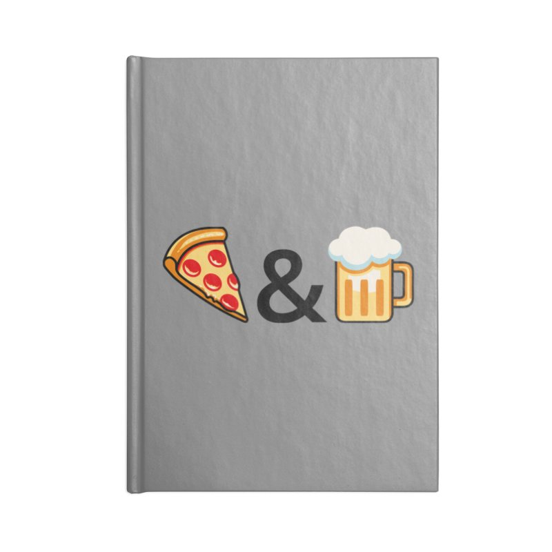 Pizza and Beer Accessories Lined Journal Notebook by Santiago Sarquis's Artist Shop