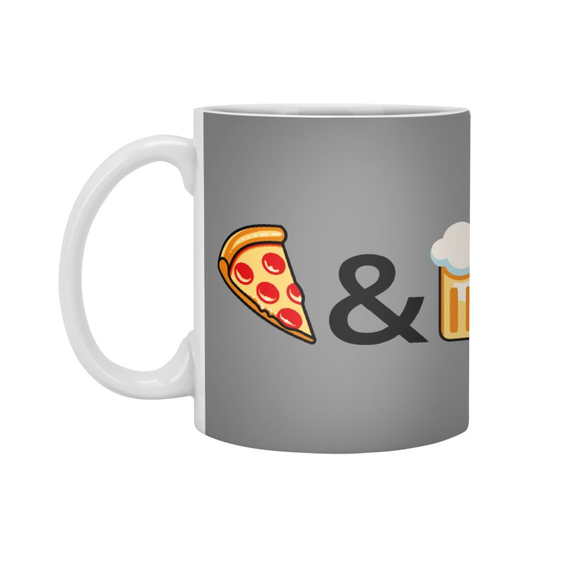 Pizza and Beer Accessories Mug by Santiago Sarquis's Artist Shop