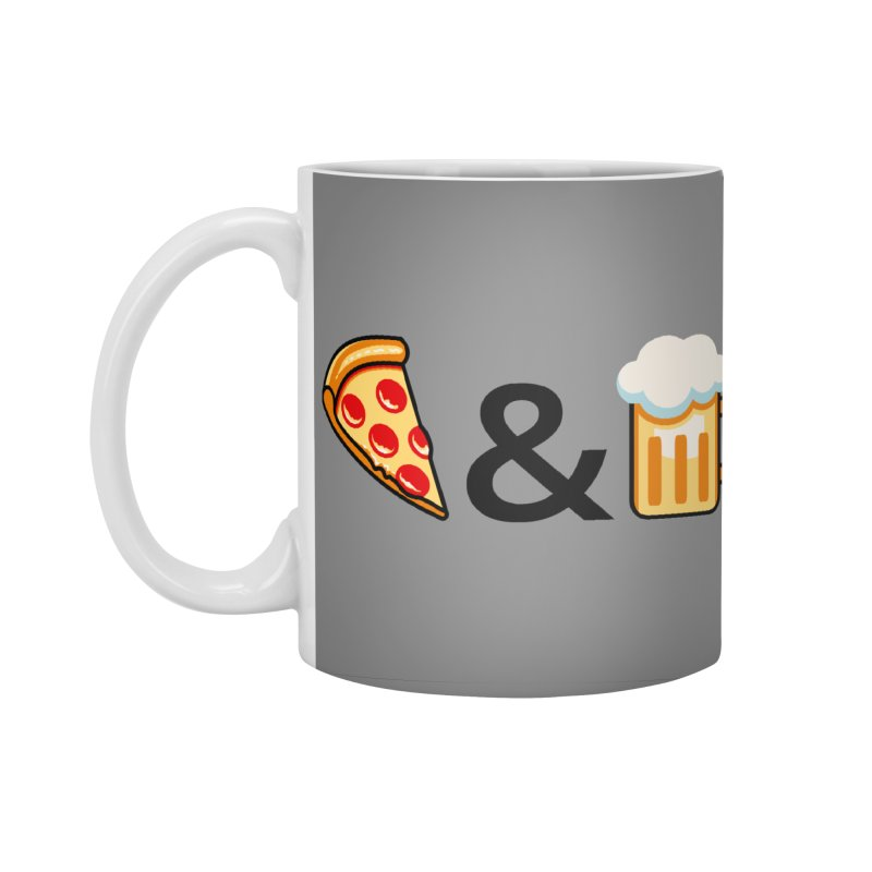 Pizza and Beer Accessories Standard Mug by Santiago Sarquis's Artist Shop