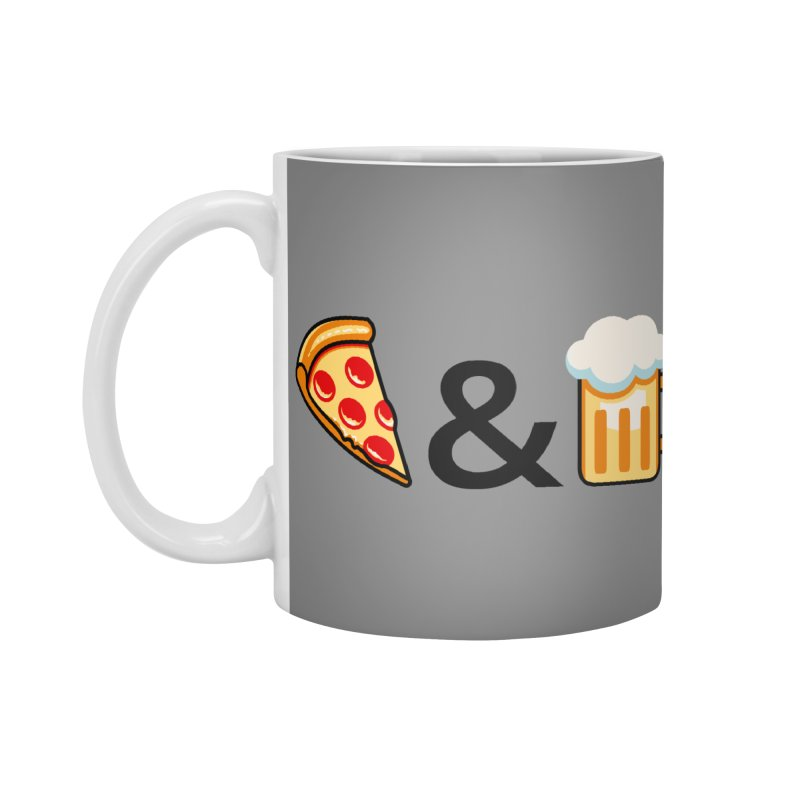 Pizza and Beer Accessories Mug by metalsan's Artist Shop