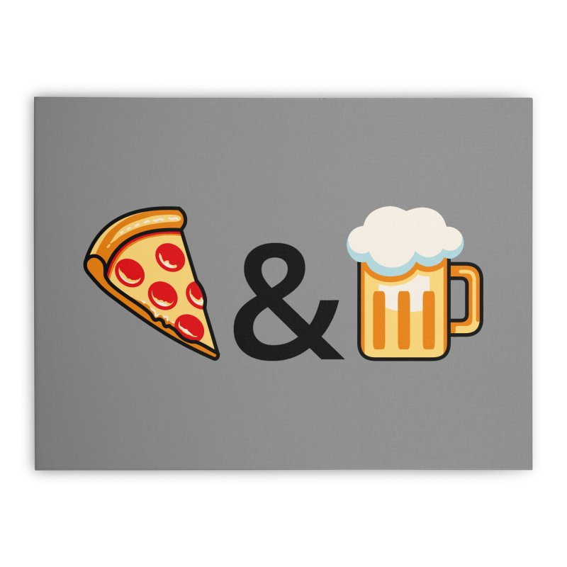 Pizza and Beer Home Stretched Canvas by Santiago Sarquis's Artist Shop