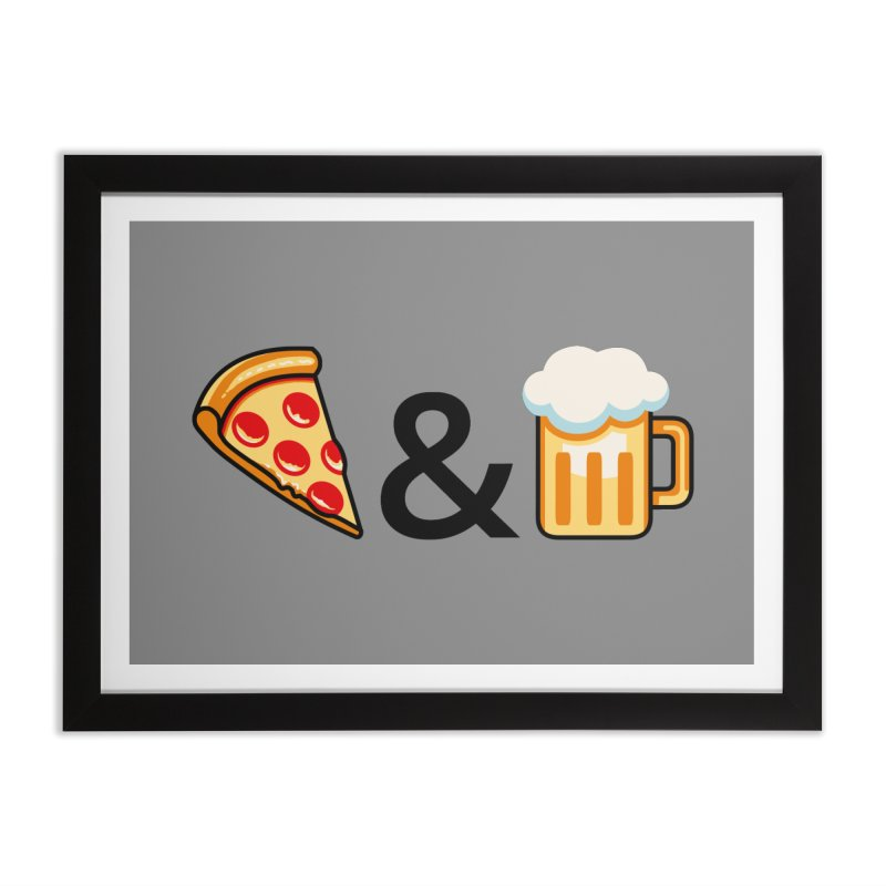 Pizza and Beer Home Framed Fine Art Print by Santiago Sarquis's Artist Shop