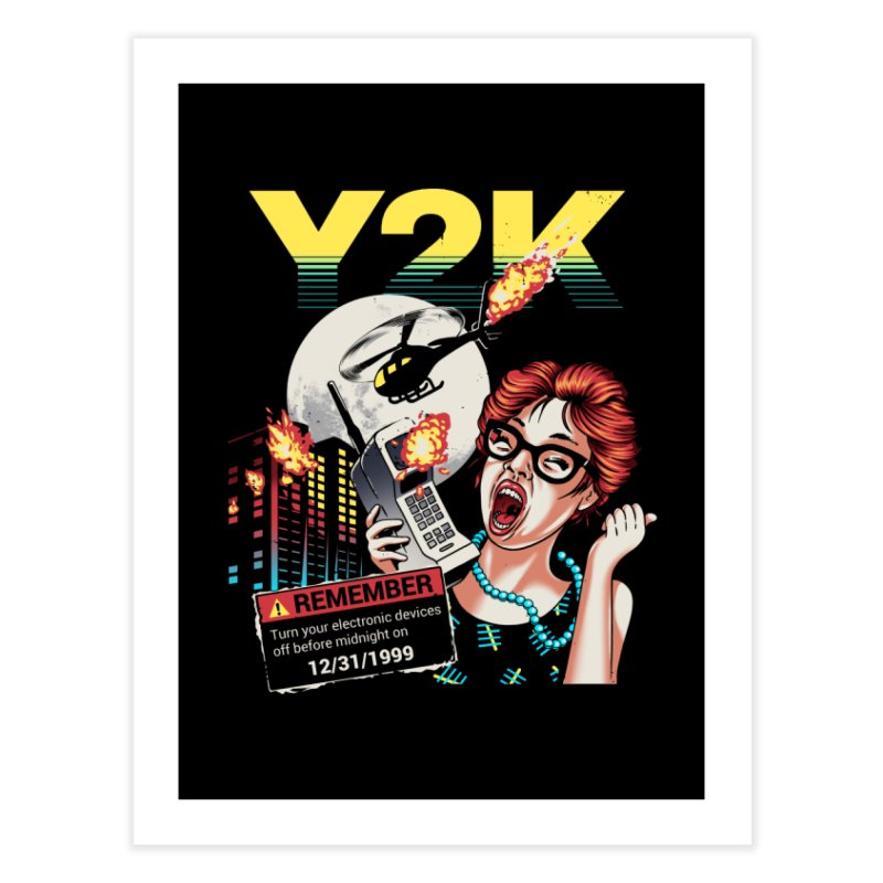 Y2K Home Fine Art Print by metalsan's Artist Shop