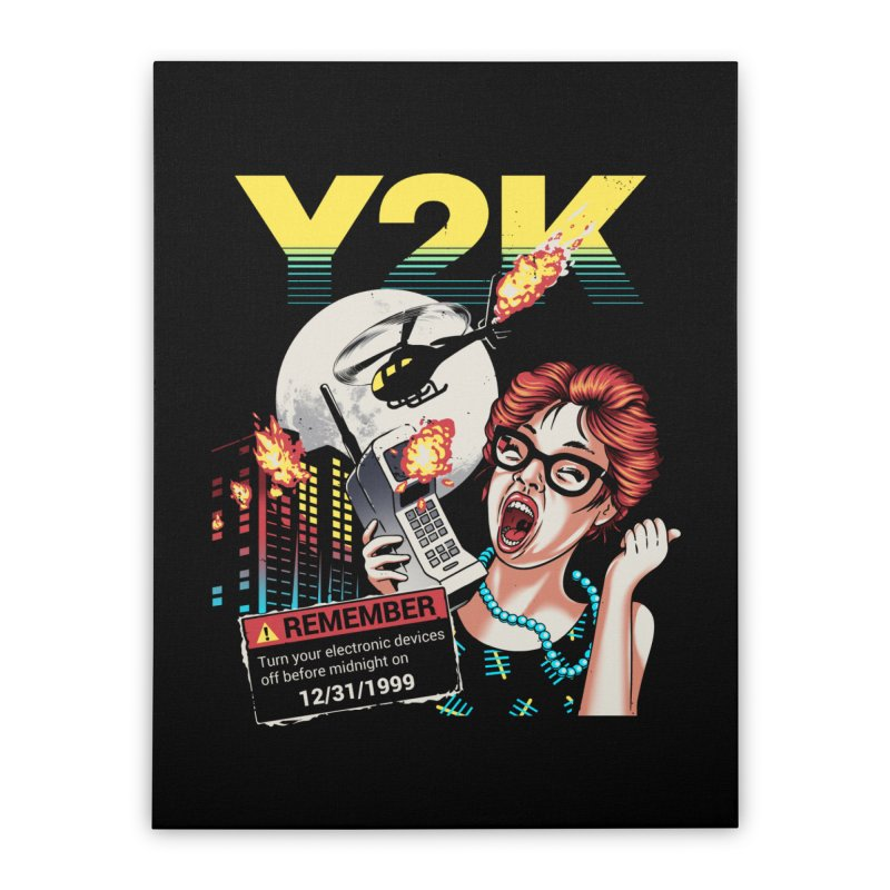 Y2K Home Stretched Canvas by metalsan's Artist Shop