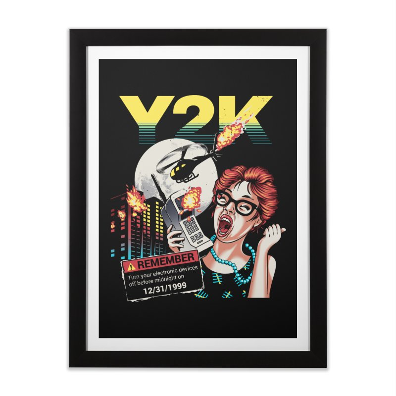 Y2K Home Framed Fine Art Print by Santiago Sarquis's Artist Shop