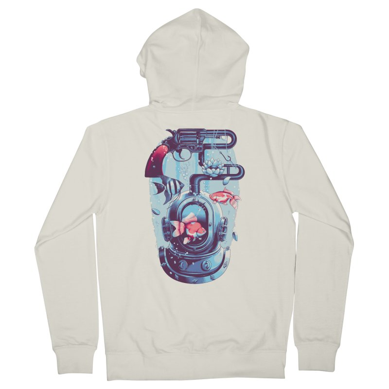 Shoot me Again Men's Zip-Up Hoody by metalsan's Artist Shop