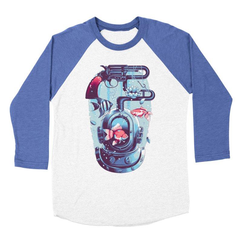 Shoot me Again Men's Baseball Triblend T-Shirt by Santiago Sarquis's Artist Shop