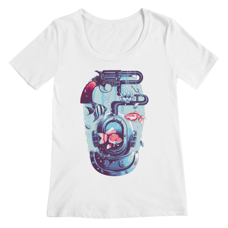 Shoot me Again Women's Scoopneck by Santiago Sarquis's Artist Shop