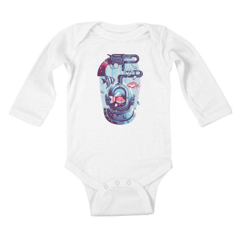 Shoot me Again Kids Baby Longsleeve Bodysuit by metalsan's Artist Shop