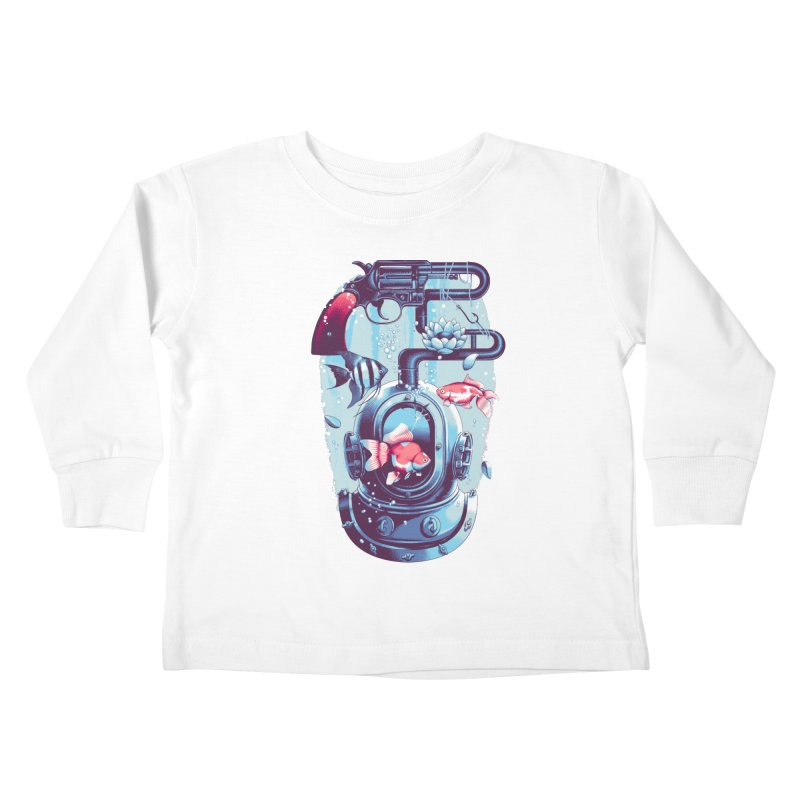 Shoot me Again Kids Toddler Longsleeve T-Shirt by Santiago Sarquis's Artist Shop