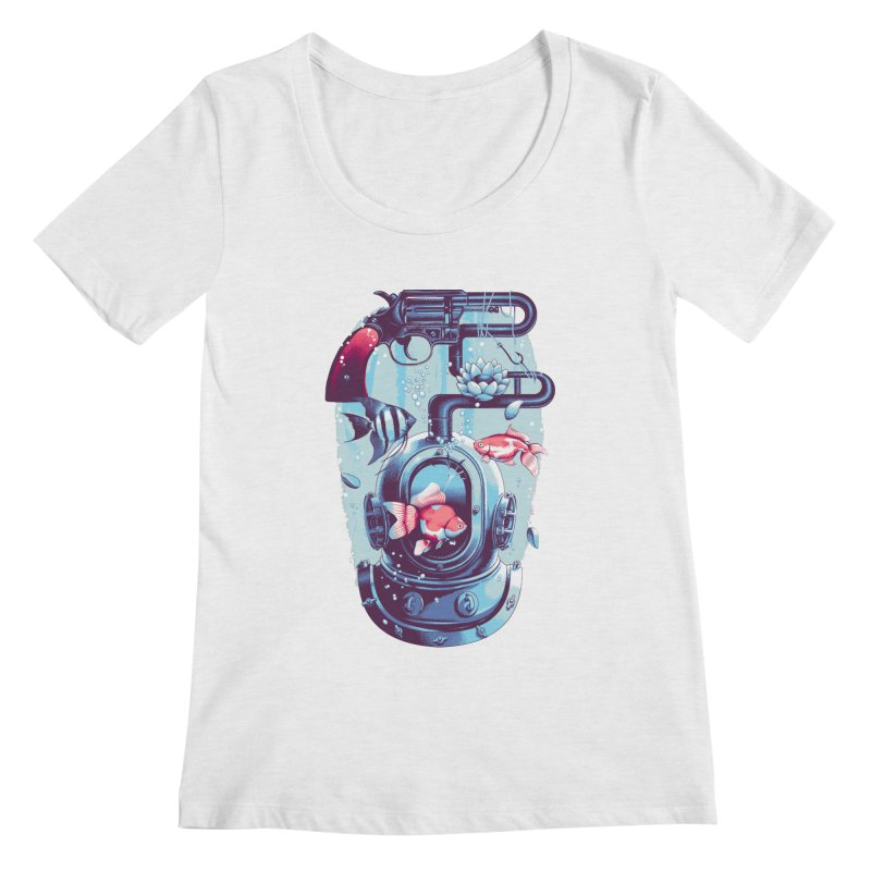 Shoot me Again Women's Regular Scoop Neck by Santiago Sarquis's Artist Shop