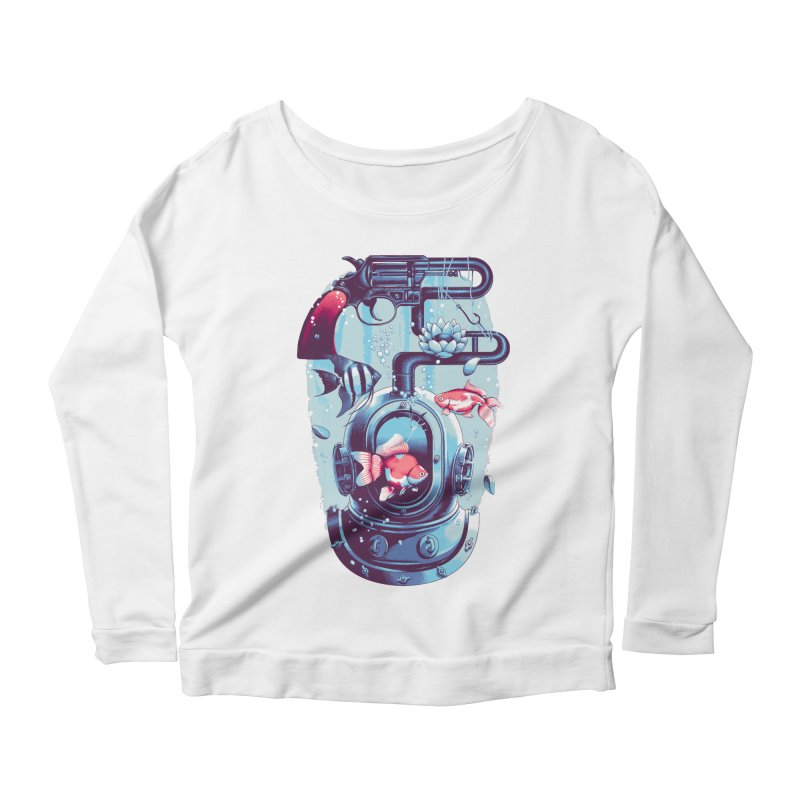 Shoot me Again Women's Longsleeve Scoopneck  by Santiago Sarquis's Artist Shop