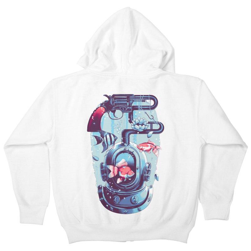 Shoot me Again Kids Zip-Up Hoody by metalsan's Artist Shop