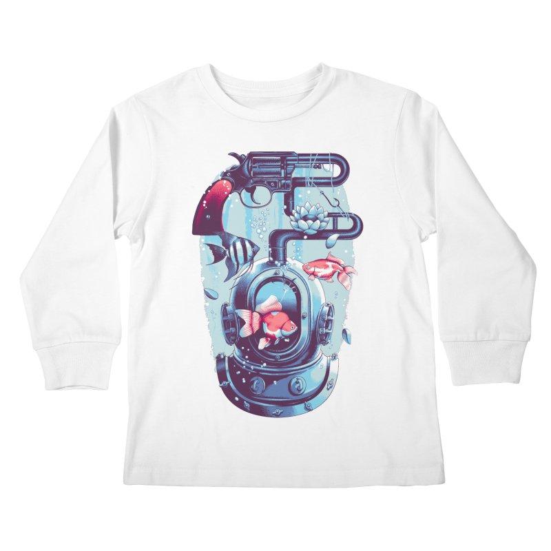 Shoot me Again Kids Longsleeve T-Shirt by Santiago Sarquis's Artist Shop