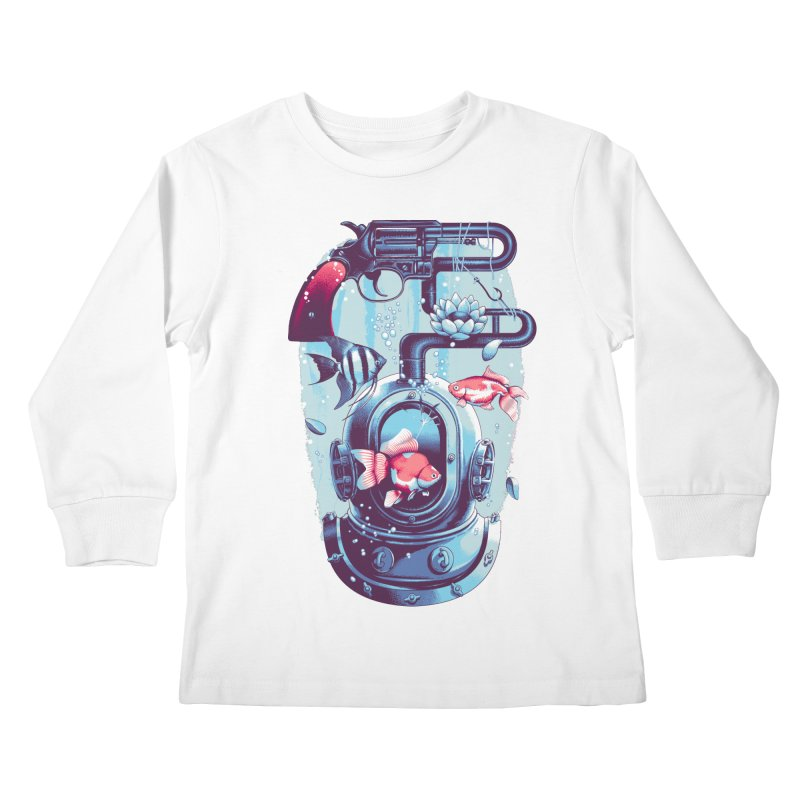Shoot me Again Kids Longsleeve T-Shirt by Santiago Sarquis's Artist Shop